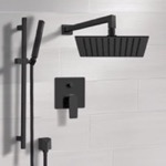 Shower Faucet, Remer SFR46, Matte Black Shower Set With Rain Shower Head and Hand Shower