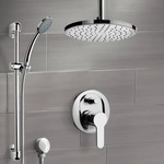 Shower Faucet, Remer SFR49, Chrome Shower Set with Rain Ceiling Shower Head and Hand Shower