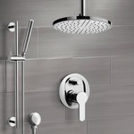 Shower Faucet, Remer SFR50, Chrome Shower Set with Rain Ceiling Shower Head and Hand Shower