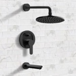 Tub and Shower Faucet, Remer TSF40, Matte Black Tub and Shower Faucet Sets with 8