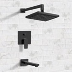 Tub and Shower Faucet, Remer TSF41, Matte Black Tub and Shower Faucet Sets with 8