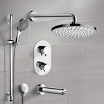 Tub and Shower Faucet, Remer TSR48, Chrome Thermostatic Tub and Shower Set with Rain Shower Head and Hand Shower