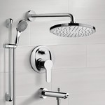 Tub and Shower Faucet, Remer TSR53, Chrome Tub and Shower Faucet Set With Rain Shower Head and Hand Shower