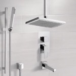 Tub and Shower Faucet, Remer TSR9546, Tub and Shower System with Ceiling 9.5
