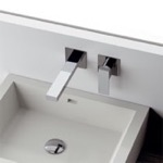 Chrome Single Handle Wall Mounted Faucet
