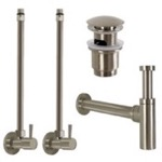 Satin Nickel All-Inclusive Sink Installation Kit