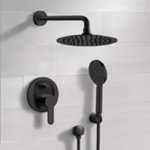Shower Faucet, Remer SFH51, Matte Black Shower Set With Rain Shower Head and Hand Shower