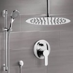 Shower Faucet, Remer SFR14, Chrome Ceiling Shower Set With 16