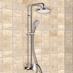 Exposed Pipe Shower, Remer SC525, Chrome Exposed Pipe Shower System with 8
