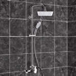 Exposed Pipe Shower, Remer SC538, Chrome Exposed Pipe Shower System with 8