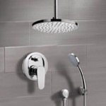Shower Faucet, Remer SFH6014, Chrome Shower System with 8