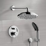 Shower Faucet, Remer SFH6050, Chrome Shower System with 9