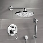 Shower Faucet, Remer SFH6141, Chrome Shower System with 8