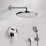Shower Faucet, Remer SFH6163, Chrome Shower System with 8