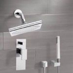 Shower Faucet, Remer SFH6195, Chrome Shower System with 9