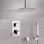 Shower Faucet, Remer SFH6400, Chrome Thermostatic Shower System with Ceiling 14