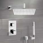 Shower Faucet, Remer SFH6403, Chrome Thermostatic Shower System with 12