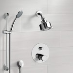 Shower Faucet, Remer SFR01, Chrome Thermostatic Shower System with Multi Function Shower Head and Hand Shower