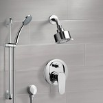 Shower Faucet, Remer SFR02, Chrome Shower System with Multi Function Shower Head and Hand Shower