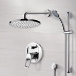 Shower Faucet, Remer SFR06, Chrome Shower System with 8