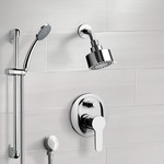 Shower Faucet, Remer SFR13, Chrome Shower System with Multi Function Shower Head and Hand Shower