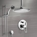 Shower Faucet, Remer SFR7013, Chrome Shower System with 9