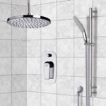 Shower Faucet, Remer SFR7015, Chrome Shower System with 8
