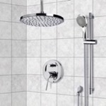 Shower Faucet, Remer SFR7016, Chrome Shower System with 8