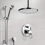 Shower Faucet, Remer SFR7017, Chrome Shower System with 8
