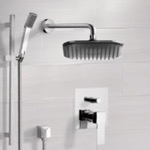 Shower Faucet, Remer SFR7036, Chrome Shower System with 8