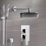 Shower Faucet, Remer SFR7037, Chrome Shower System with 8