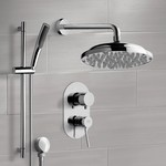 Shower Faucet, Remer SFR7051, Chrome Shower System with 9