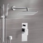 Shower Faucet, Remer SFR7055, Chrome Shower System with 14