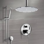 Shower Faucet, Remer SFR7095, Chrome Shower System with Ceiling Shower Head and Hand Shower