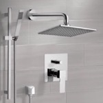 Shower Faucet, Remer SFR7112, Chrome Shower System with 8