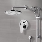 Shower Faucet, Remer SFR7163, Chrome Shower System with 8