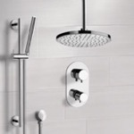 Shower Faucet, Remer SFR7405, Chrome Thermostatic Shower System with 8