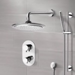 Shower Faucet, Remer SFR7407, Chrome Thermostatic Shower System with 9