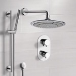 Shower Faucet, Remer SFR7408, Chrome Thermostatic Shower System with 9