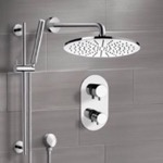 Shower Faucet, Remer SFR7409, Chrome Thermostatic Shower System with 12
