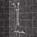Shower Faucet, Remer SR009, Chrome Thermostatic Slidebar Shower Set With Multi Function Hand Shower