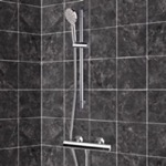 Shower Faucet, Remer SR014, Chrome Thermostatic Slidebar Shower Set With Multi Function Hand Shower