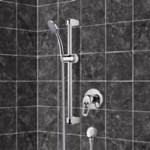 Shower Faucet, Remer SR036, Chrome Slidebar Shower Set With Hand Shower