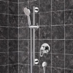 Shower Faucet, Remer SR043, Chrome Slidebar Shower Set With Multi Function Hand Shower