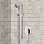 Shower Faucet, Remer SR044, Chrome Slidebar Shower Set With Hand Shower