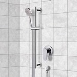 Shower Faucet, Remer SR046, Chrome Slidebar Shower Set With Multi Function Hand Shower