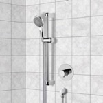Shower Faucet, Remer SR047, Chrome Thermostatic Slidebar Shower Set With Multi Function Hand Shower