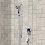 Shower Faucet, Remer SR048, Chrome Slidebar Shower Set With Multi Function Hand Shower