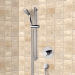 Shower Faucet, Remer SR050, Chrome Thermostatic Slidebar Shower Set With Multi Function Hand Shower