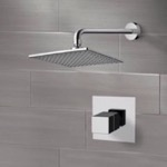 Shower Faucet, Remer SS04, Chrome Thermostatic Shower Faucet Set with 8